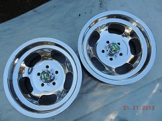 JUST POLISHED ANSEN 15x7 SLOT MAG WHEELS MAGS GASSER FORD GT DODGE