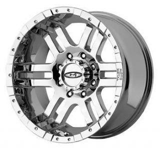 Chrome Moto Metal MO951 5x5  12 Rims Nitto Terra Grappler 265/70/17