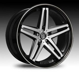 18 20 22Lexani R FIVE Wheels Tires Black Mach Infinity Lexus Acura