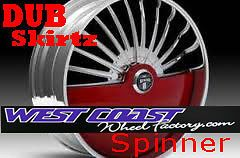 28 DUB SKIRTZ S600 Spinner WHEEL RIMS Set SKIRTZ Spinners NEW Floater