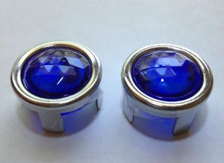 Ford Blue Dot Tail Light Bulb Lamp Lenses Street Rod Chrome Bezel