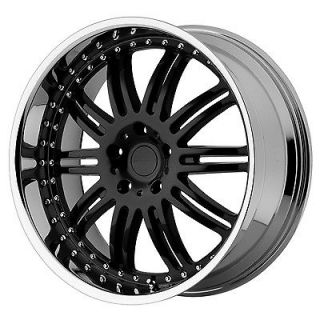SET 20x8.5 KMC Dime KM127 Black Wheels Rims 5x4.5 Ford Jeep Dodge