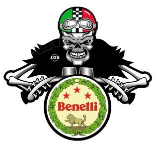 BENELLI SHIELD ITALIAN MOTORCYCLE moto rad bike STICKER
