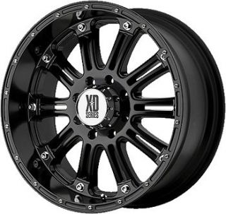 17x9 Black XD XD795 Hoss 5x5 +18 Rims Nitto Terra Grappler 285/70/17