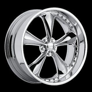 Nitrous Wheel SET 20x8.5 20x10 Chrome Hot Rod Classic RWD 5 Lug Rims