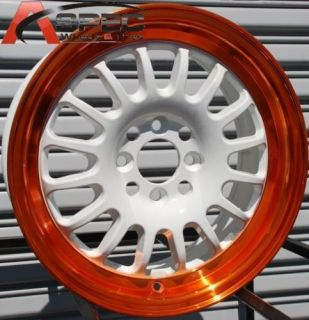 15 ROTA TRACK R WHEELS 4X100 RIM INTEGRA CRX DEL SO XA