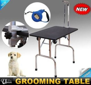 Portable Pet Dog Folding Grooming Table With Wheels Carry Handle Strap