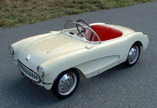 Newly listed 1957 ESKA KIDDIE CORVETTE PEDAL CAR (REPLACEMENT