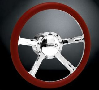 Budnik Shock 15.5 Polished Steering Wheel, Horn Button, and Adapter