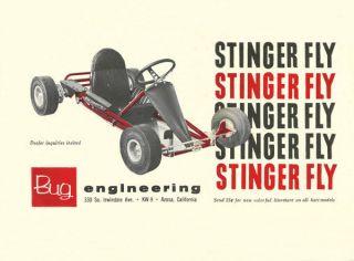 Vintage 1962 Bug Stinger Fly Go Kart Ad