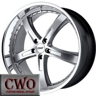 17 Silver Tsw Jarama Wheels Rims 5x112 5 Lug Jetta Rabbit VW Audi A4