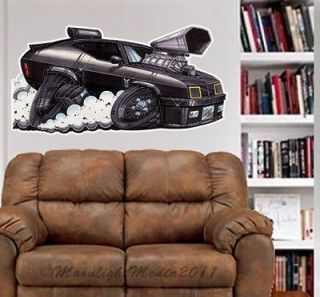 Mad Max Interceptor Car WALL GRAPHIC FAT DECAL MAN CAVE BAR KIDS ROOM