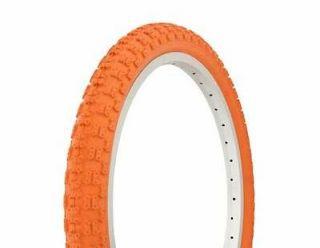 20 x 2.125 Orange Chain Link Bicycle Tire Bike Freestyle Fixie BMX