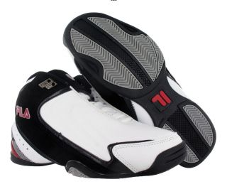 Fila Rimshot Mens Basketball Shoes White/black/red Size