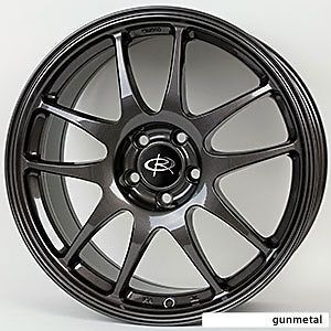 17 ROTA TORQUE GUNMETAL RIMS WHEELS 17x7.5 +45 5x114.3 MAZDA3 SPEED3