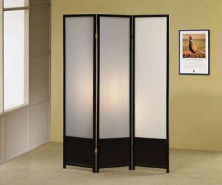 Coaster Black Finish 3 Panel Folding Screen 900120