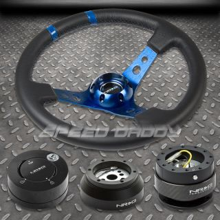 NRG BLUE STEERING WHEEL+HUB+CARB ON QUICK RELEASE+MB LOCK KIT 69 02