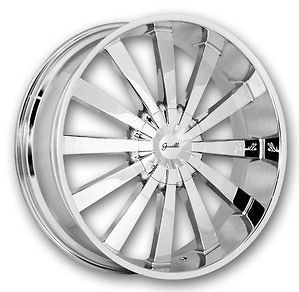 28 inch Gianelle Santorini II all chrome wheels and tires package