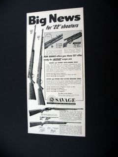 Savage Model 87 & 5 .22 22 Rifles rifle 1954 print Ad