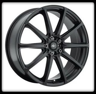 RACING 215B BANSHEE 4X100 4X4.25 SENTRA NEON GLOSS BLACK WHEEL RIMS