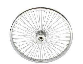 LOW RIDER LOWRIDER BIKE BICYCLE 20 72 Spoke Front Wheel 14G Chrome