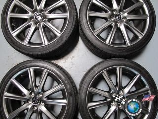Four 2013 Lexus GS350 F Sport Factory 19 Wheels Tires OEM Rims Dunlop