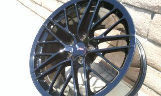 Corvette Original C6 ZR1 2009 2013 Gloss Black Wheels Rims