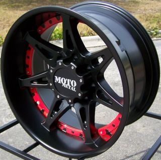 RED CHROME MOTO METAL 961 WHEELS RIMS FORD F250 F350 KING RANCH 8X170