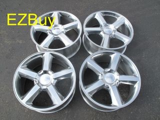 GMC Escalade Factory Style Polished Wheels Rims 5308 Plain Caps