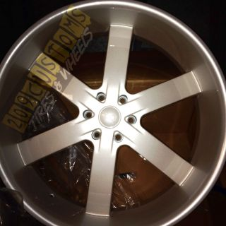 RIMS WHEELS TIRES U2W55 6X139 7 PEARL WHITE CADILLAC ESCALADE 2012