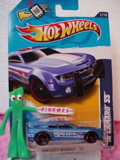 2012 Hot Wheels Police 10 Camaro SS 2010 131★KMART Excl Blue★city