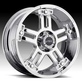 Chrome V Tec Warlord Wheels Rims 8 Lug 2011 Silverado 2500 3500