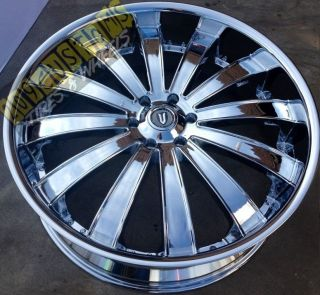 VERSANTE RIMS WHEELS TIRES VW225 5X150 CHROME TOYOTA SEQUOIA 2010 2011