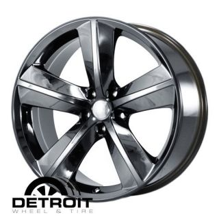 DODGE CHARGER CHALLENGER MAGNUM 2008 2010 PVD Black Chrome Wheels Rims