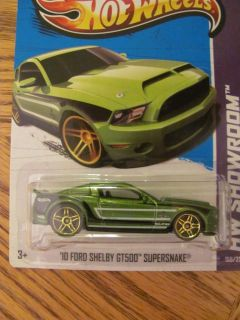 2013 Hot Wheels 2010 Ford Shelby GT 500 Supersnake Mustang  Green HW