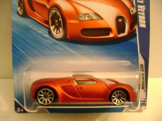 Bugatti Veyron 2010 Hot Wheels Hot Auction Series Red Wal Mart VVHTF