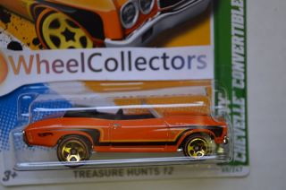 CHEVY CHEVELLE CONVERTIBLE 2012 Hot Wheels 15 15 Treasure Hunt Q Case