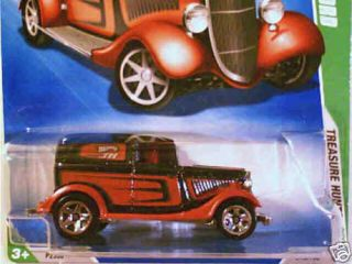 2009 Hot Wheels Treasure Hunt 1934 Ford Long Card 34