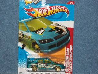 2012 Hot Wheels Thrill Racers 2008 Mitsubishi Lancer Evolution New