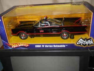 HOT WHEELS 1 18 SCALE 1966 TV SERIES BATMOBILE SEALED BOX 2007 MATTEL