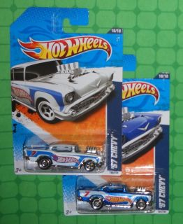 2011 Hot Wheels Racing 160 57 Chevy 2 Variations