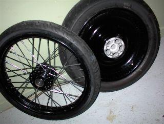 2008 2013 Dyna Super Glide Street Bob Low Rider Custom Black Wheels W