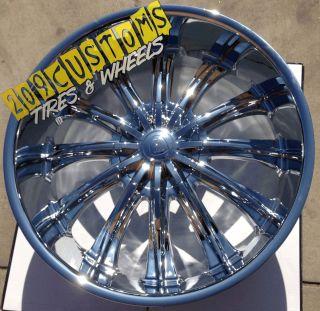 Chrome Wheels Rims Tires 6x139 7 BW15 24X10 Hummer H3 2005 2006 2007