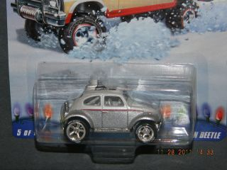 2009 HOT WHEELS HOLIDAY RODS 5 6 CUSTOM VOLKSWAGEN BEETLE HW HOTWHEELS