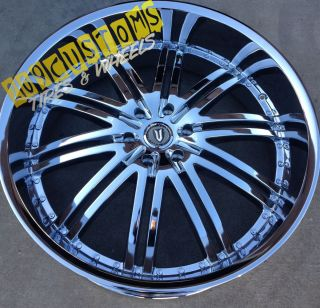 VERSANTE RIMS WHEELS TIRES VW212 CHROME 6X139 7 SIERRA 2007 2008 2009
