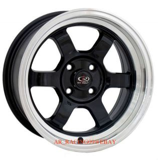 15 Rota Rims 15x7 20 Grid V Black 92 93 94 95 96 97 98 99 00 01 Civic