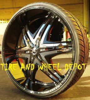 30 inch Diablo Elite Black Rims and Tires F 150 H3 Expedition Tahoe
