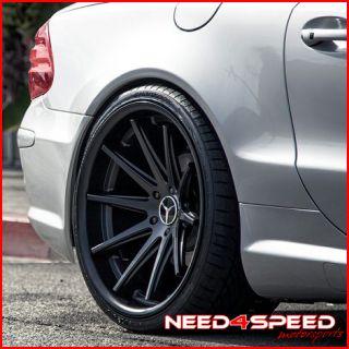 E500 E550 E55 Rohana RC10 Black Concave Staggered Wheels Rims