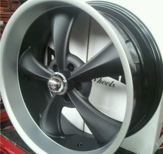 18X9 5 RIDLER 695 STAGGERED CAMARO GTO NOVA CHEVELLE BLACK WHEELS RIMS