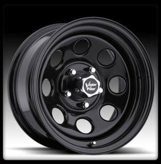 VISION 85 SOFT 8 BLACK 5X139 7 5X5 5 DAKOTA F150 WHEEL RIMS 17 INCH 12